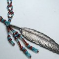 American Indian Beaded Feathers