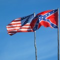 Flags of American civil war.