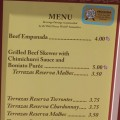 Argentina Food Menus and Prices
