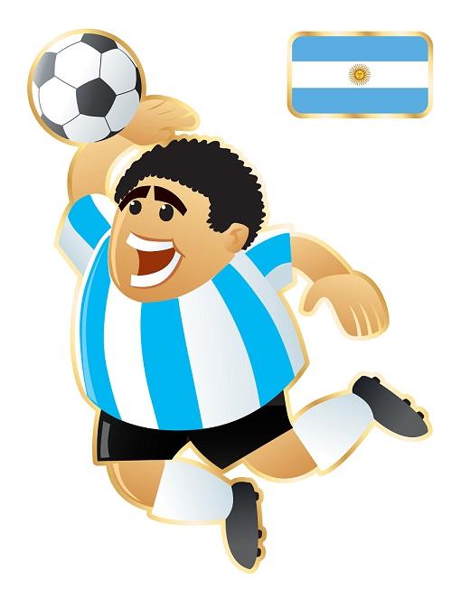 Football mascot Argentina