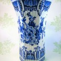 Blue Scalloped Austrian Vase