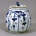 Blue and White Japanese Art