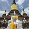Buddhist temples in Ayuthaya Thailand