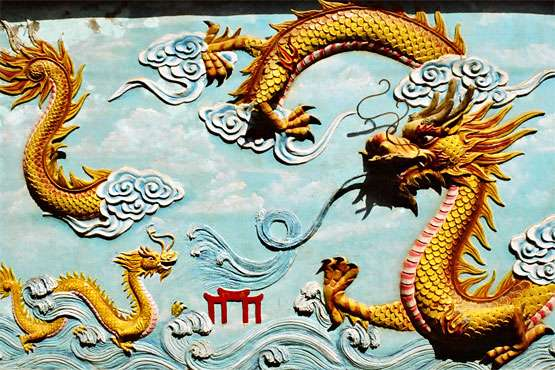 Chinese Dragon with Clouds