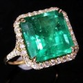 Colombian Emerald Gold Ring