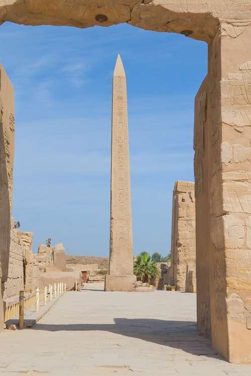 Obelisk of Queen Hatshepsut in Karnak temple