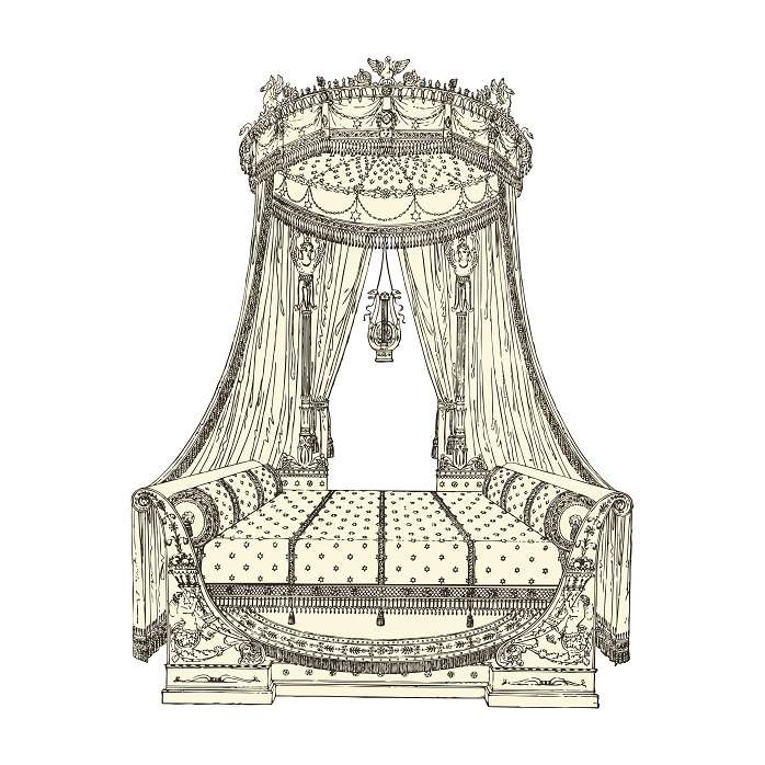 19th century Fench bed
