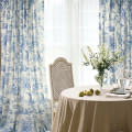 French Country Blue Toile Curtains