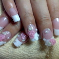French Tip Fake Nails With Design