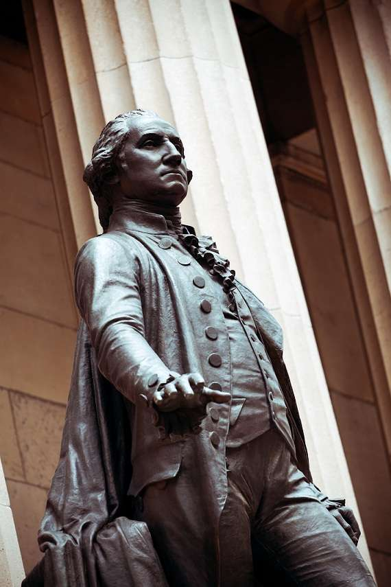 George Washington Statue at Federal Hall, Wall Street, New York