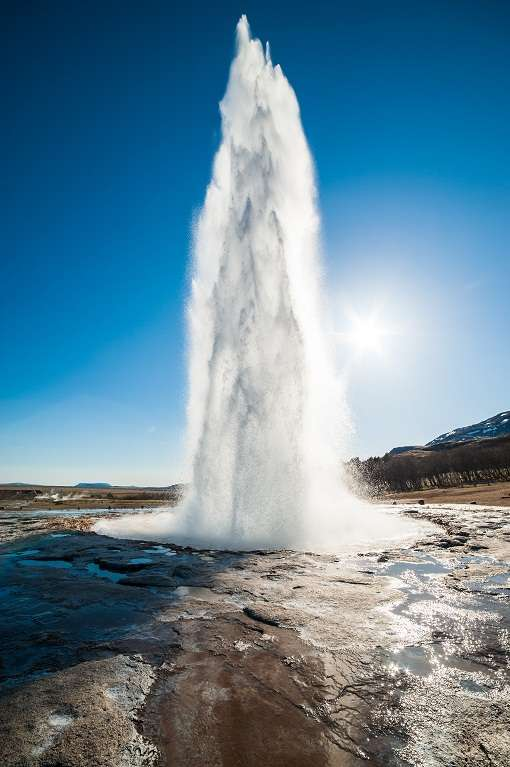 Geyser erruption. Iceland