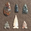 Indian Glass Arrow Heads
