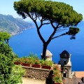 Amalfi Coast view from the cliffside town of Ravello, Italy