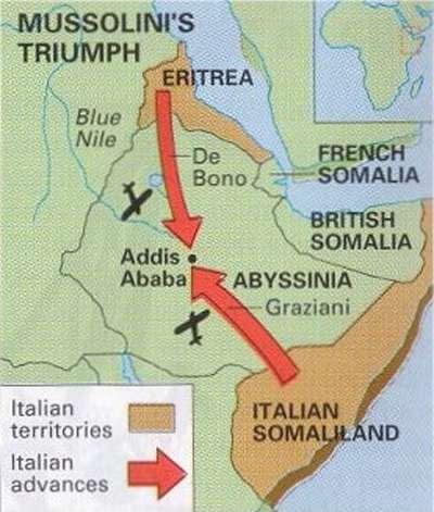 Italy invaes ethiopia