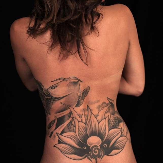 Tattoo am Rücken
