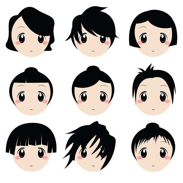 Awe Inspiring Japanese Anime Hairstyles Globerove Short Hairstyles For Black Women Fulllsitofus