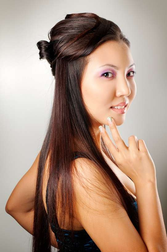 Asian girl with hairstyle