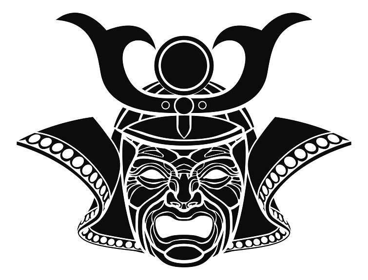 Fearsome samurai mask