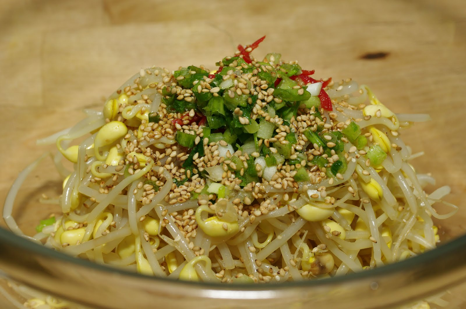 Bean Sprout Salad , Korean Bean Sprout Salad