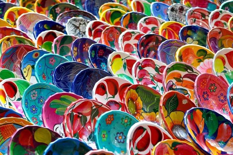 Colorful Mayan Bowls for Sale