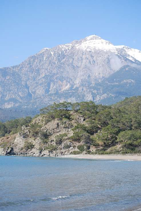 Mount Olympus from the shore, Turkey