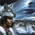 Native American Wolf Art