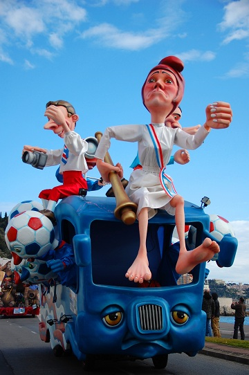 Carnival of Nice on February 21, 2012 in French Riviera.