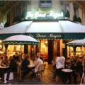Night Time Outdoor Cafe Paris