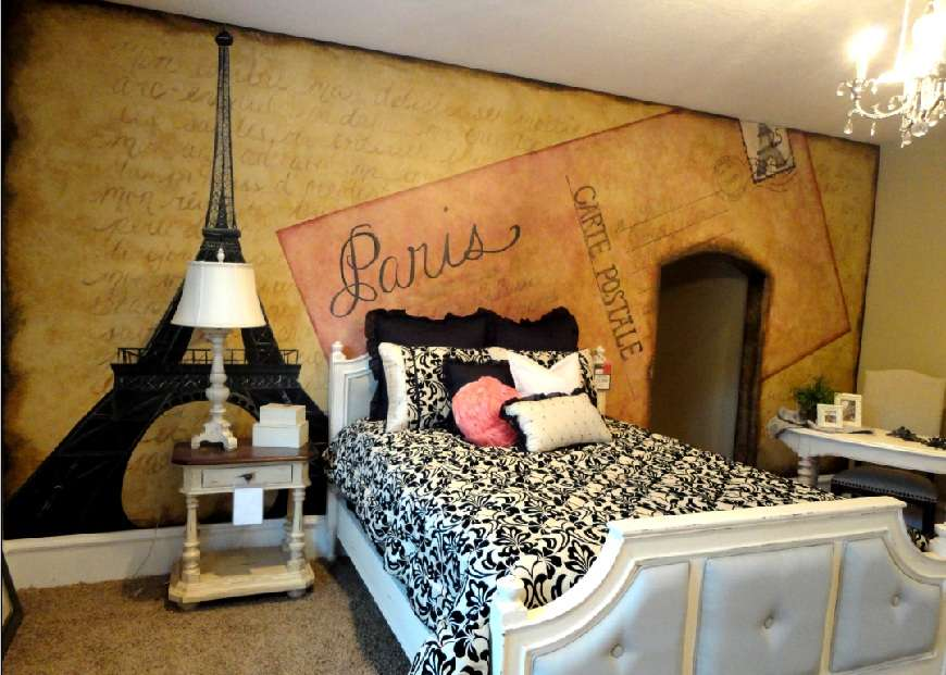 pics photos parisian paris themed bedroom contemporary bedroom