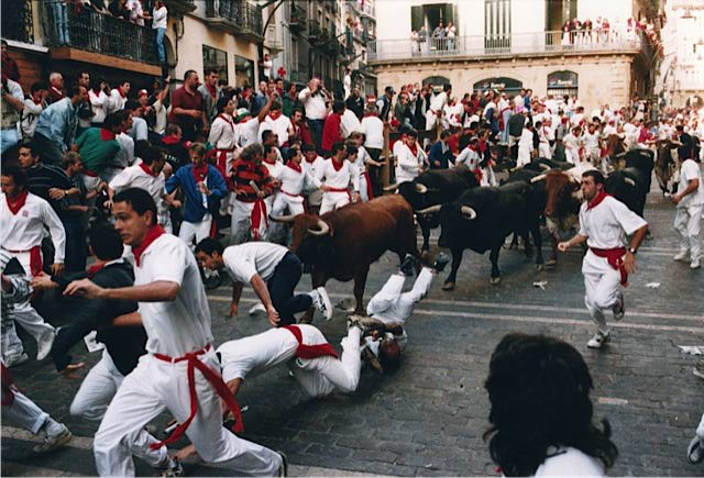 Spain culture guide Running of the bulls in Pamplona