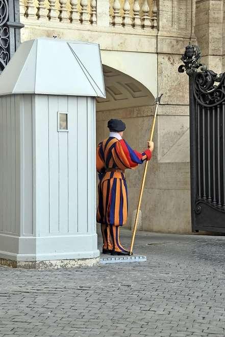 Vatican soldier standing