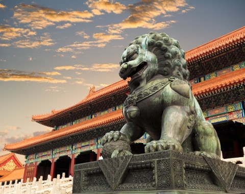 forbidden city statue