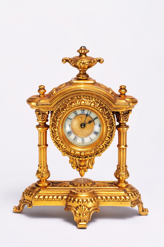 19th Century French golden gilt clock.