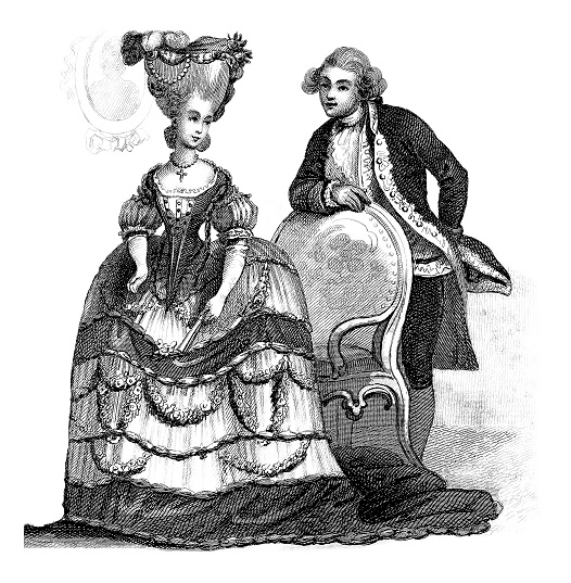 Stupendous Aristocratic Fashions In 18Th Century France Globerove Short Hairstyles Gunalazisus