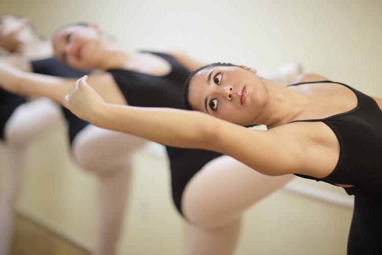 Practicing ballerina