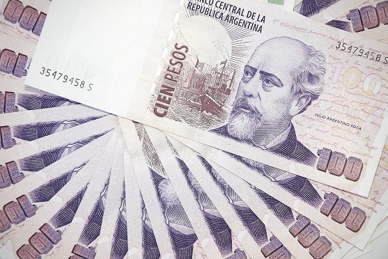Background of Argentinean pesos