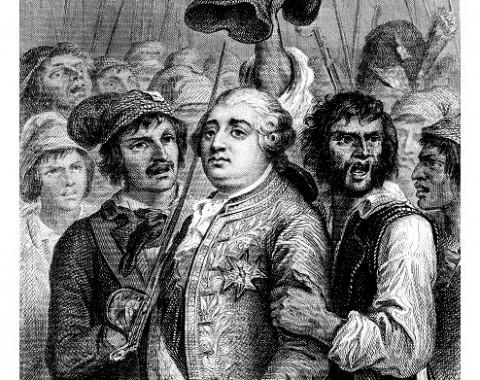 King Louis XVI arrested by French revolutionaries