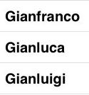 long italian names