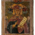 Antique orthodox icon. St. Barbara