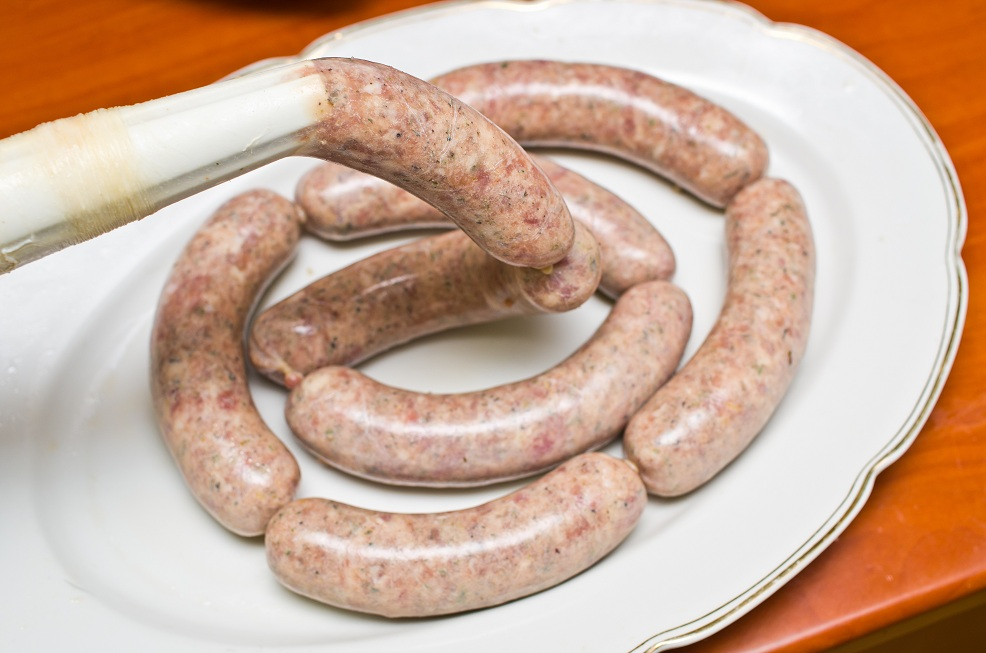 Homemade traditional sausage