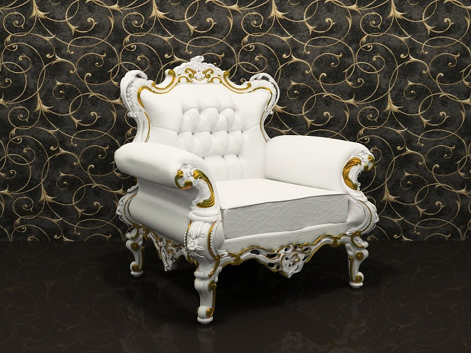 French Leather luxury armchair