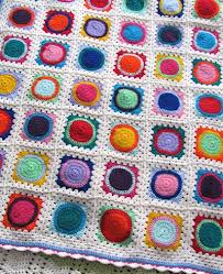 Crochet Circle and Square Afghan