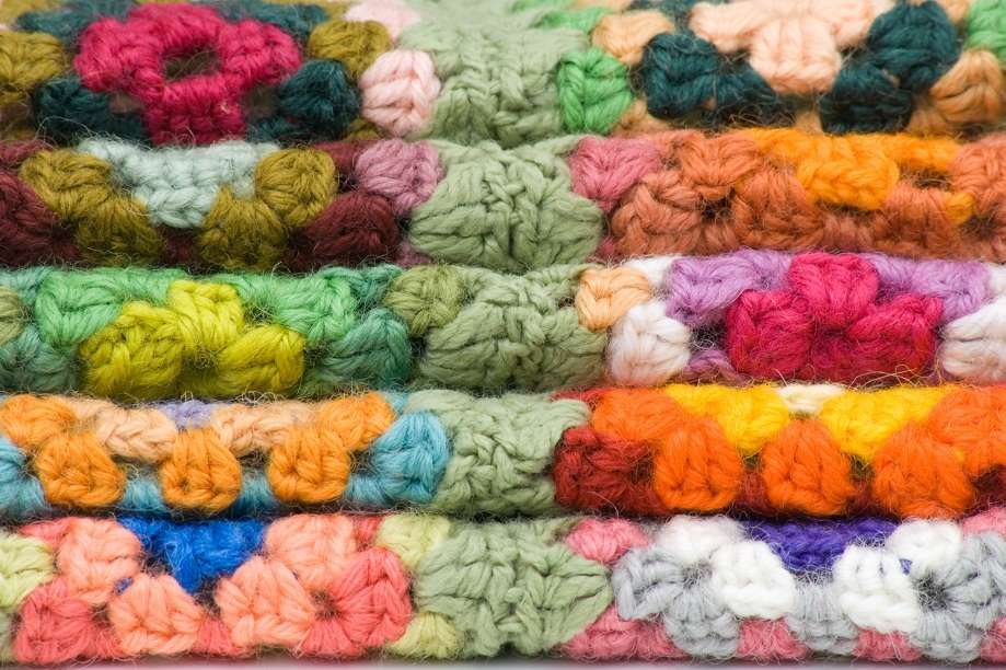 Colourful Crocheted Sqaures