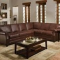 Breckenridge Leather Sectional Sofas