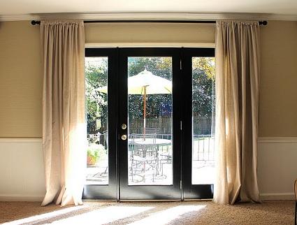 Patio Door Curtain Rods - Modern Patio