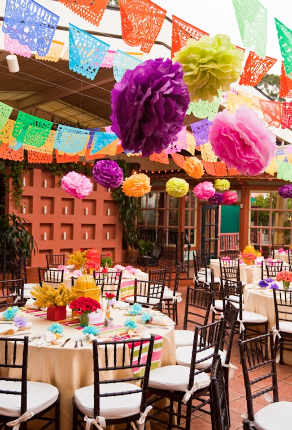 Decorating With Fiestaware Mexican Wedding Mexican Wedding Receptions