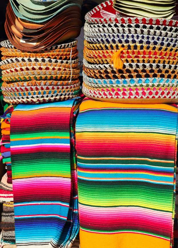 Mexican saddle blankets