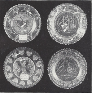 four reproduction cup plates.