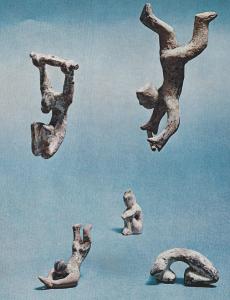 the antics of acrobats