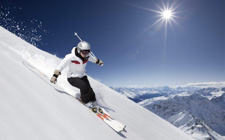 Downhill Skiing in Switzerland
